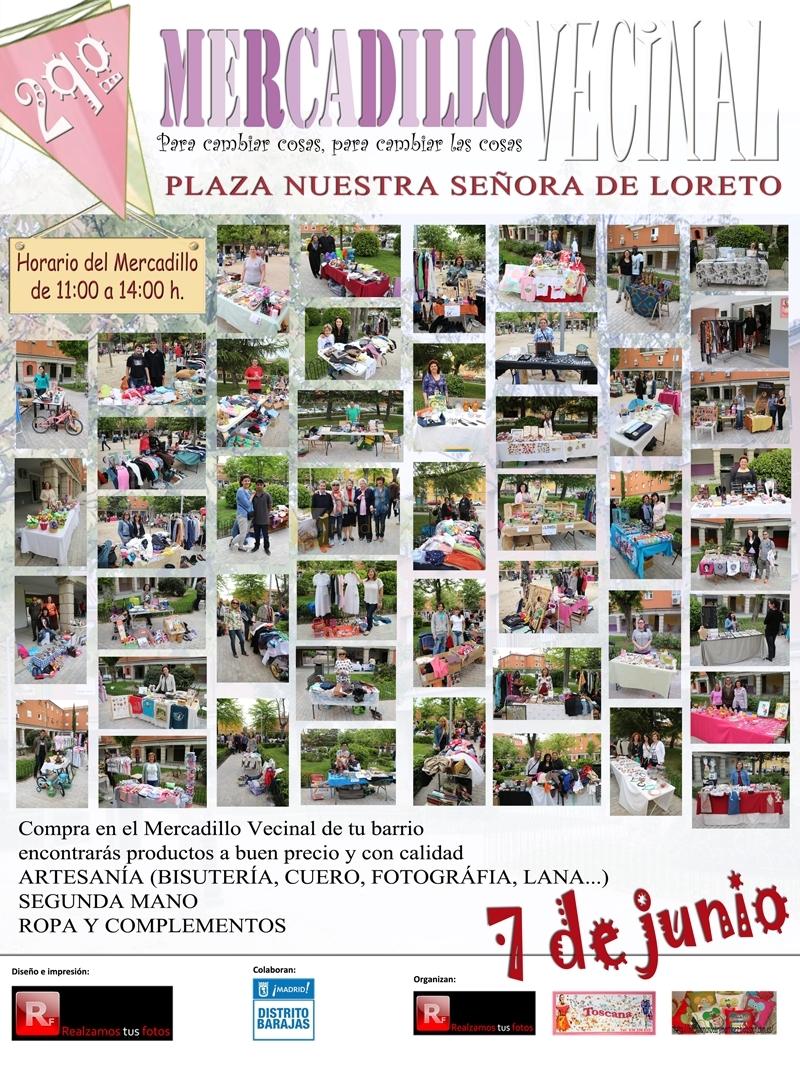 Mercadillo Vecinal En La Plaza Nuestra Sra De Loreto Barajas  ~ Mercadillo De Segunda Mano Madrid